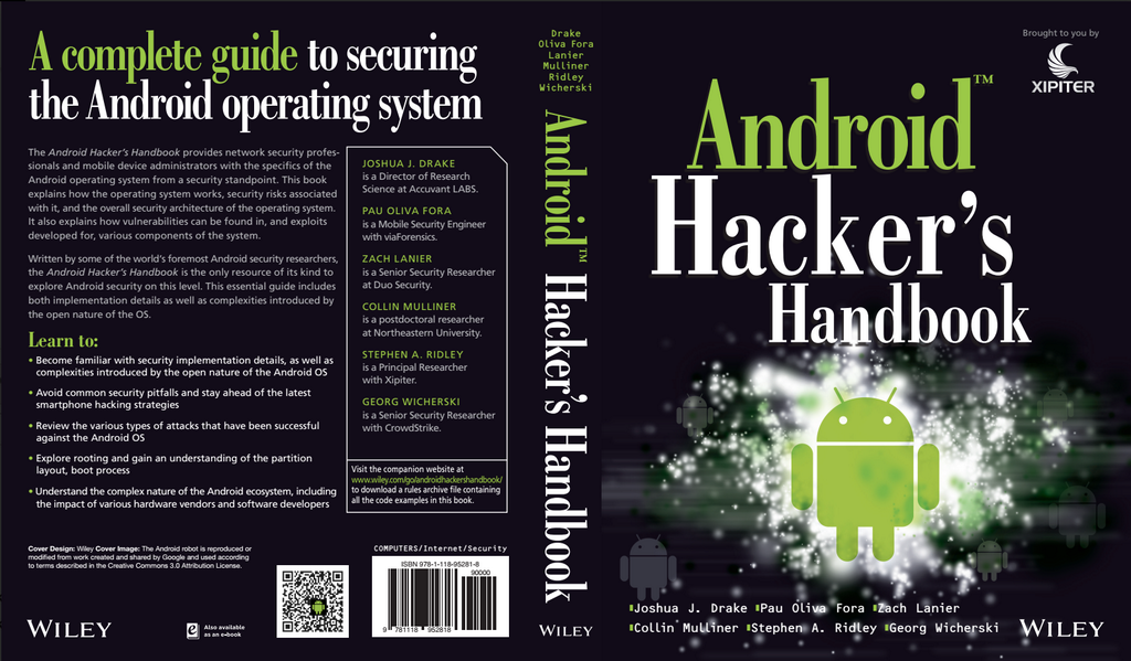 Xipiter custom print of the Android Hacker's Handbook